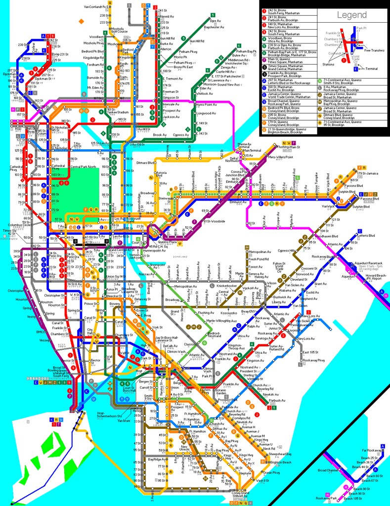 My NYC subway Map | my draft of my NYC subway map | Cinema34 | Flickr