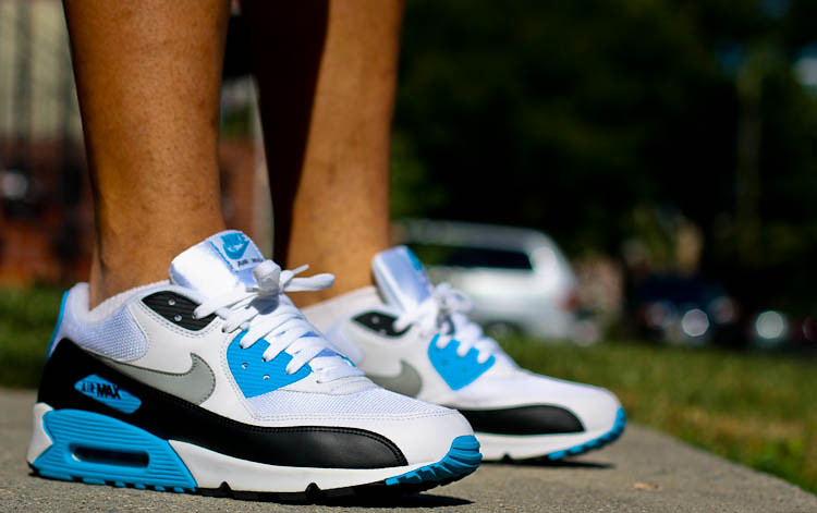 Nike Air Max 90 Laser Blue White Black Grey