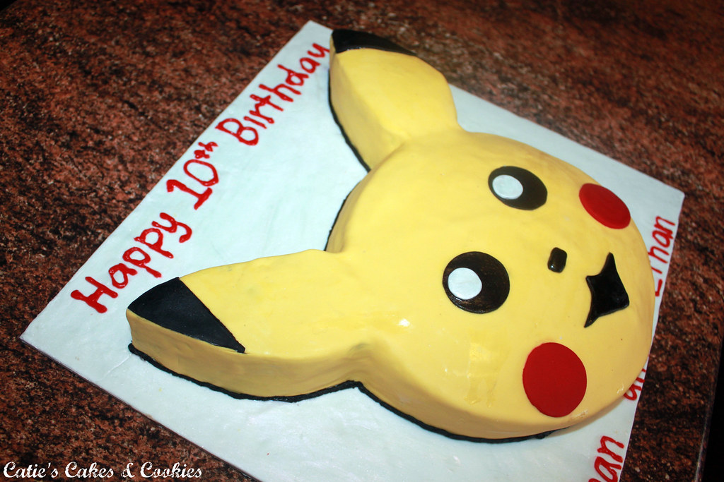 Pikachu Fondant Cake