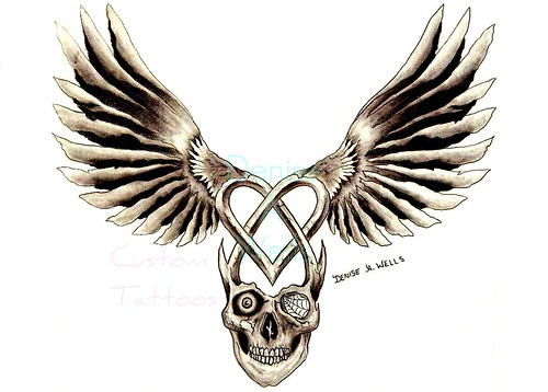 SkullHeart Tattoo design by Denise A. Wells | by ♥Denise A. Wells♥