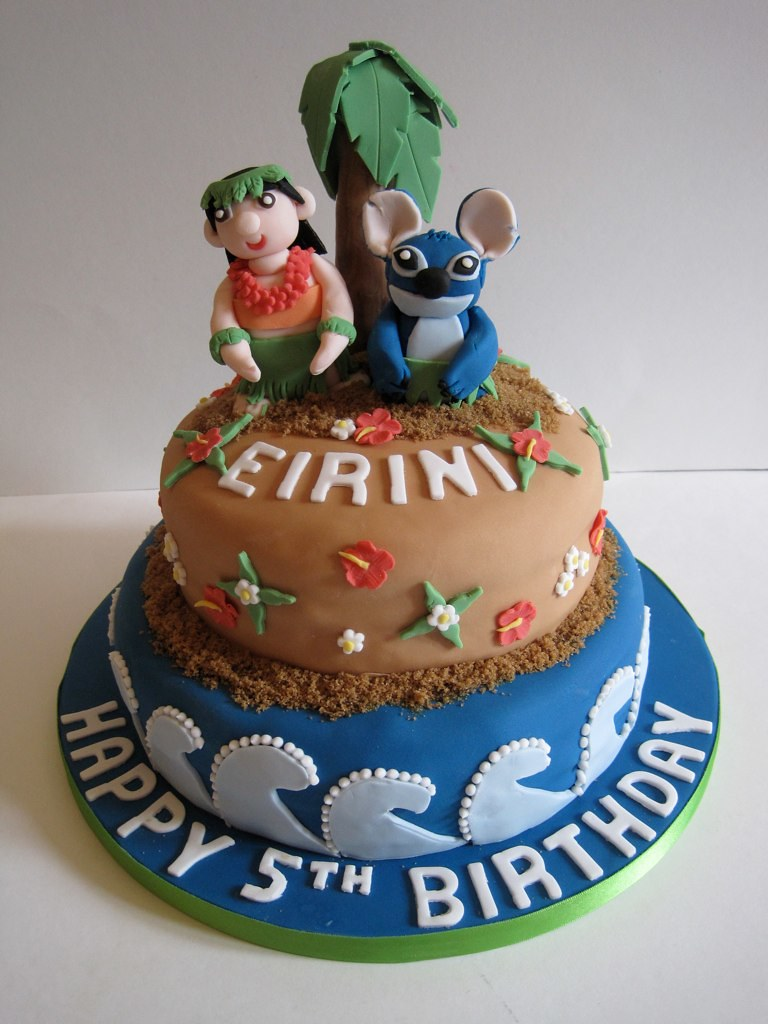 Lilo Stitch Hula Cake Lilo And Stitch Hula Birthday Cake Flickr