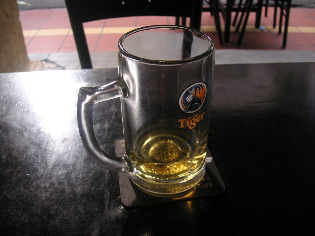 Empty Tiger beer