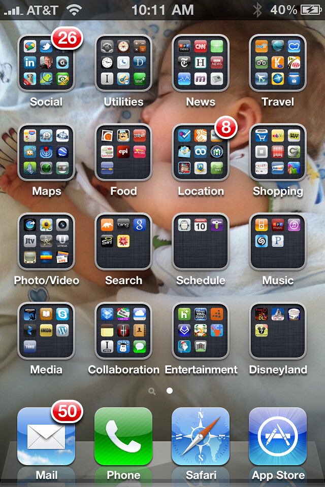 My Iphone 4 Home Screen I Have Dozens Of Apps All