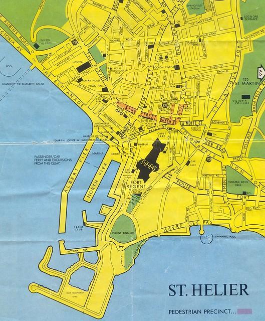 Map Of St Helier Jersey Channel Islands