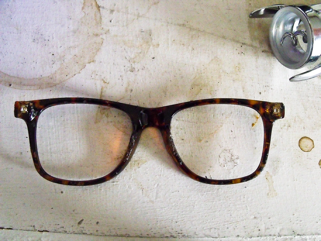 by danisabella found grungy pair of broken hipster frames by danisabella