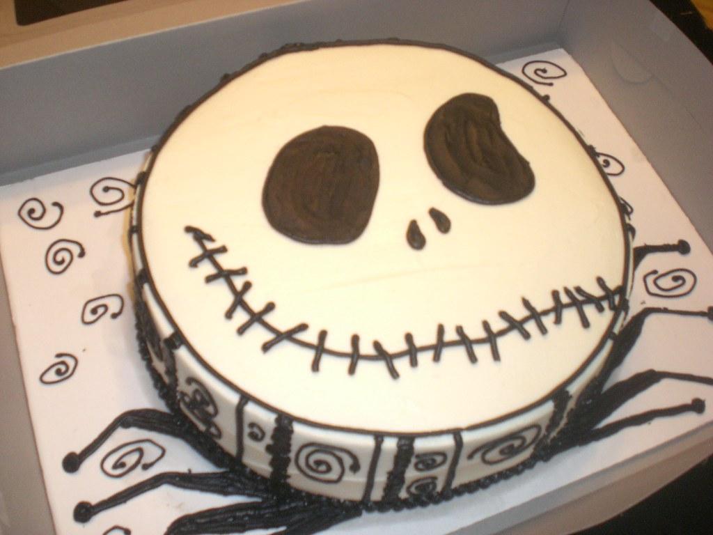 Jack Skellington Birthday Cake Chocolate Cake Oreo Fillin Flickr