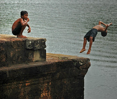 into the pool (Angkor Wat) by Al Varty