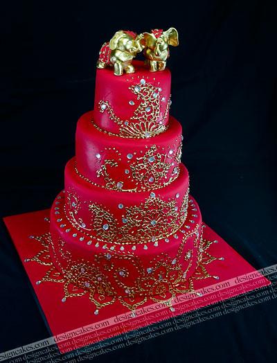 indian wedding cake Christine Pereira Flickr