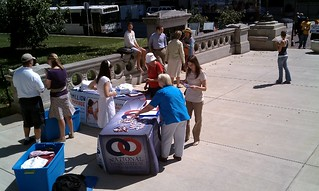 Indianapolis Rally – Setting up | by National Organization for Marriage