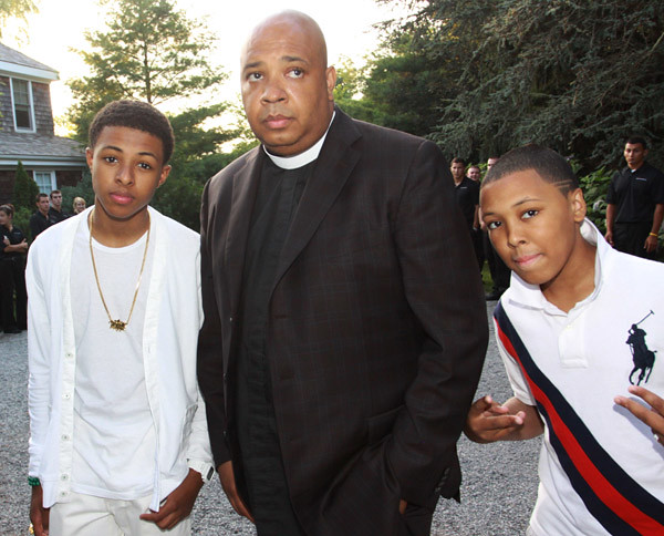 "Daniel ""Diggy"" Simmons, Reverend Run and Russell ""Russy"" S ..."