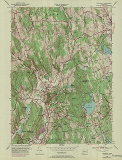 Woodbury Quadrangle 1970 - USGS Topographic Map 1:24,000 | by uconnlibrariesmagic