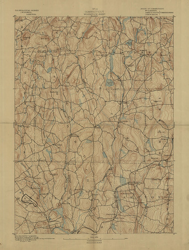 Woodstock Sheet 1890 - USGS Topographic Map 1:62,500 | by uconnlibrariesmagic