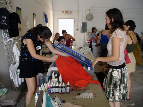 screenprinting station @ Swap-o-Rama-Rama | by eclectica miami