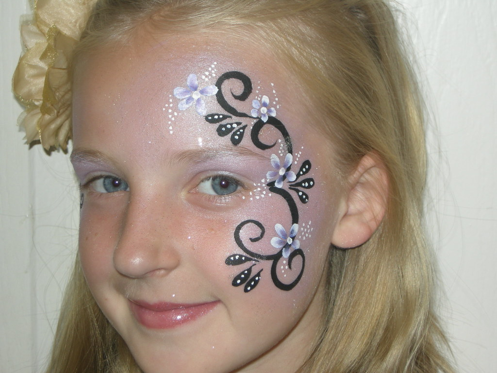 Simple Fairy Face Painting Designs