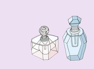 day 12 - Glass perfume bottles | by Rebekah Leigh