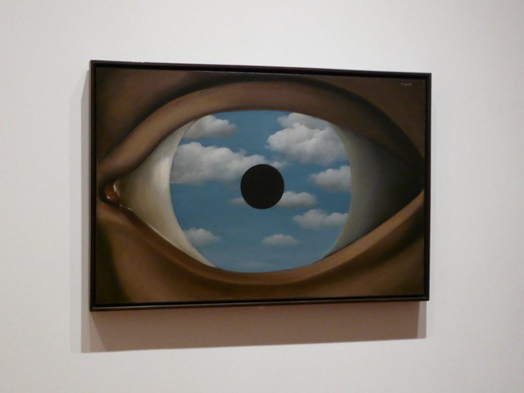 Le faux miroir ren magritte 1928 museum of modern for Magritte le faux miroir