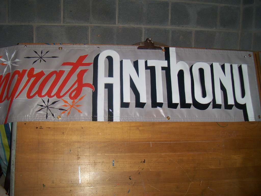 hand painted banner graduation sign hand lettering on bann flickr