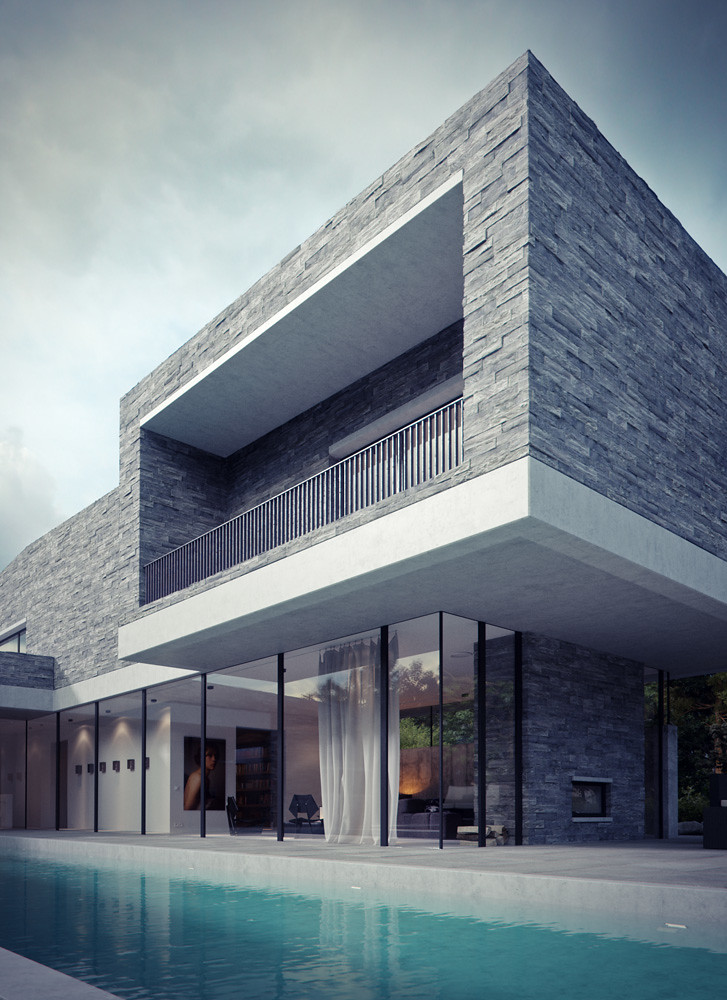 Modern house 3ds max and vray bbb3viz flickr for 3d architect free