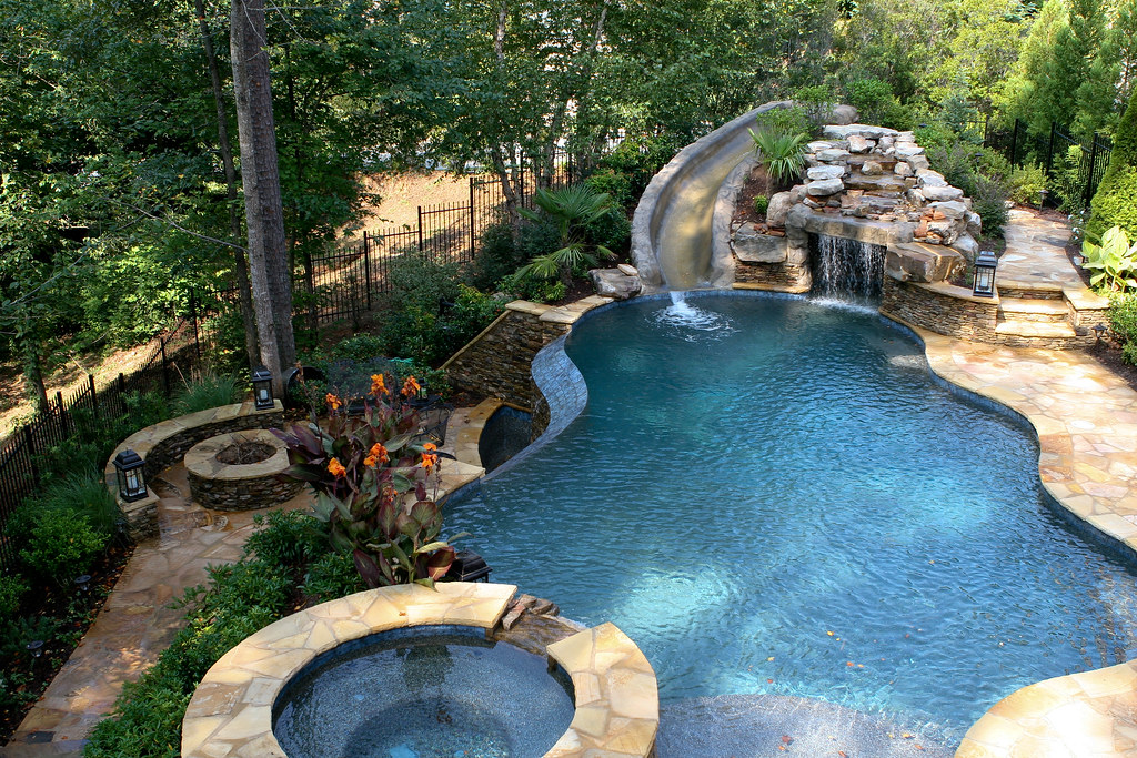 cool pools with waterfalls and slides and caves pool caves and grottos best cave 2017 - Cool Pools With Waterfalls And Slides