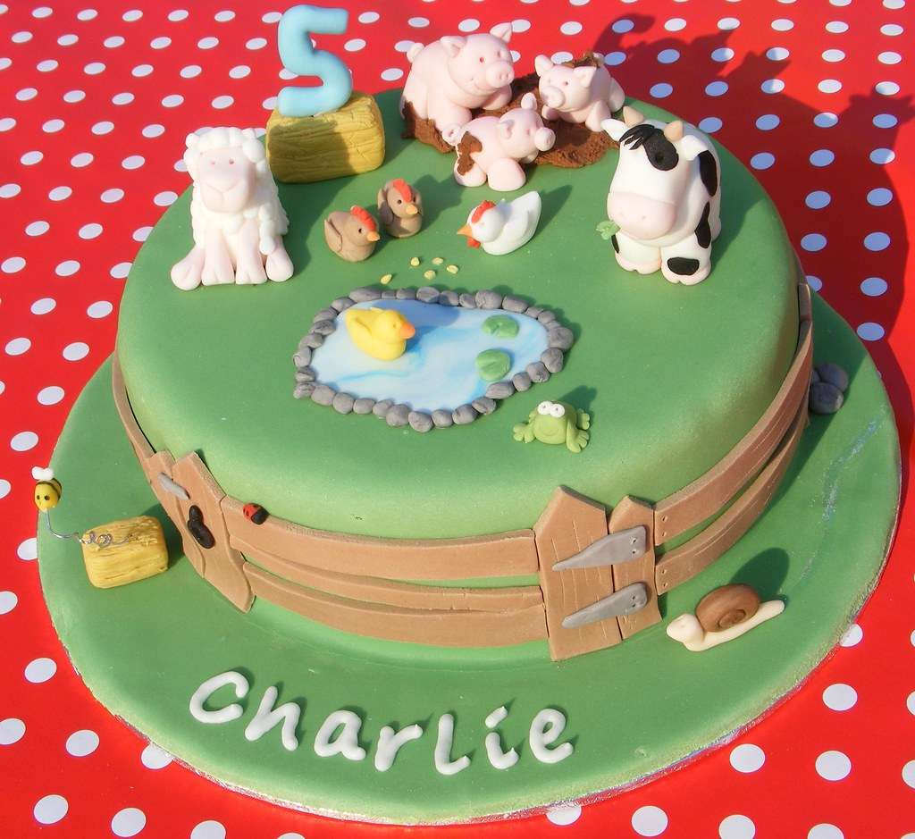 Farm Cake Birthday cake for a little boy having his party Flickr