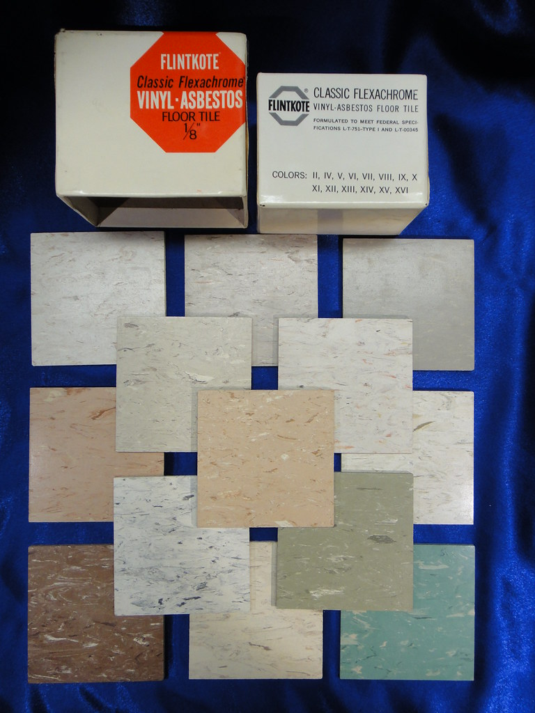Flintkote Vinyl Asbestos Flexachrome Floor Tile Collection Flickr