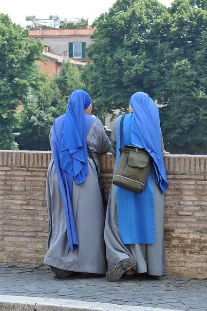 Nuns, near Forum Romanum, Rome