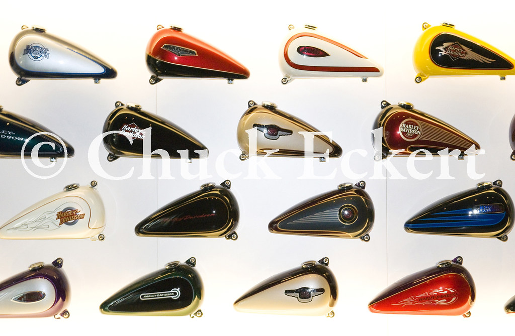Harley Gas Tank Graphics | Gas tank graphics on display at t