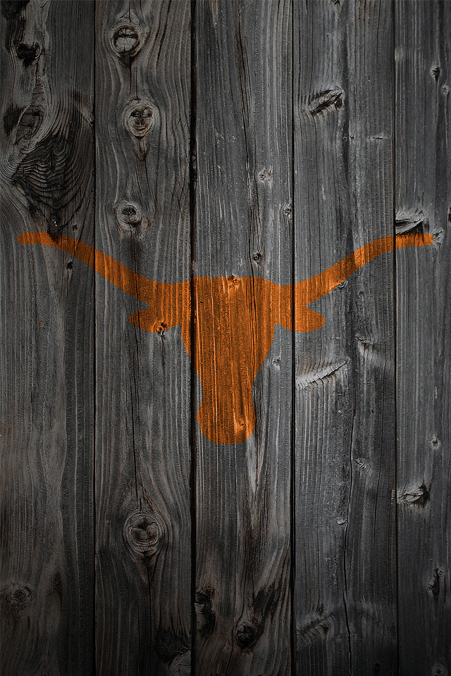 Texas Longhorns Wood IPhone 4 Background
