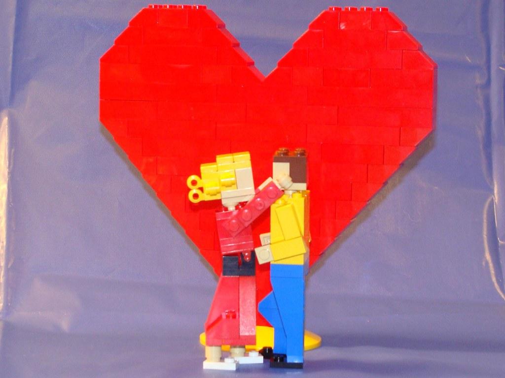 elmhurst lego store brand ribbon model kissing couple flickr. Black Bedroom Furniture Sets. Home Design Ideas