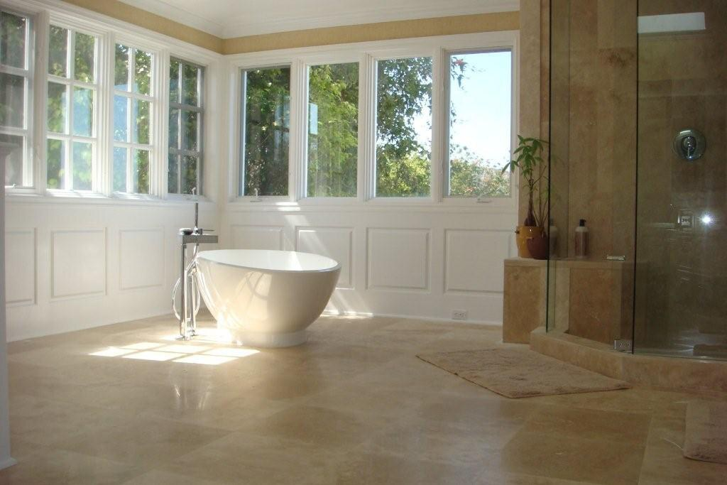 Wainscoting america raised panel bathroom los angeles cali for Bathrooms with wainscoting photos