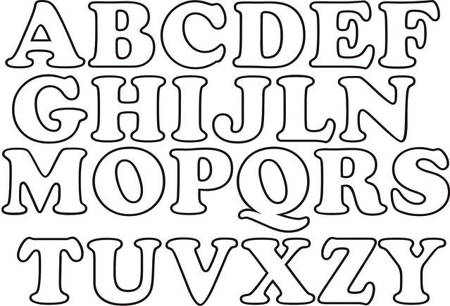 Moldes De Letras Grandes Para Imprimir