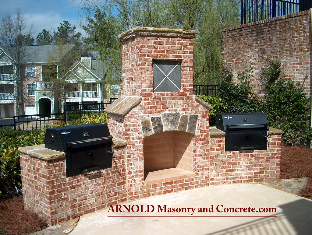 brick fireplace outdoor living patio www arnoldmasonryandl u2026 flickr