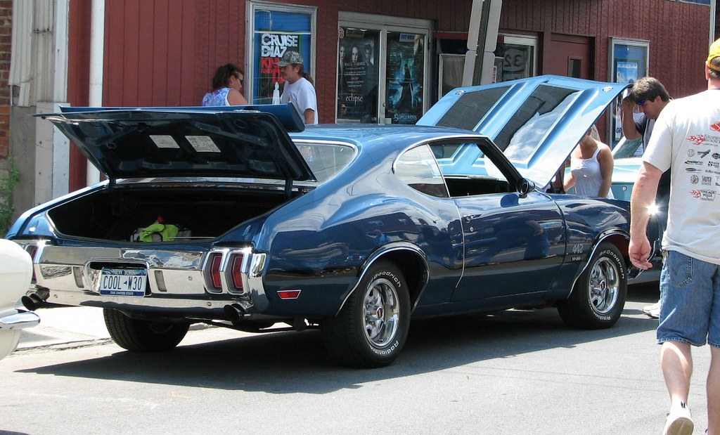 A 1970 Oldsmobile Cutlass 442 In July 2010 At The 2010