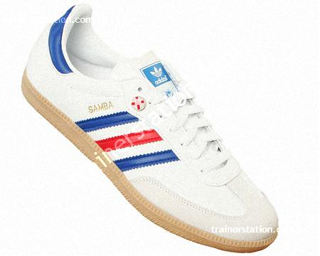 blue leather adidas samba