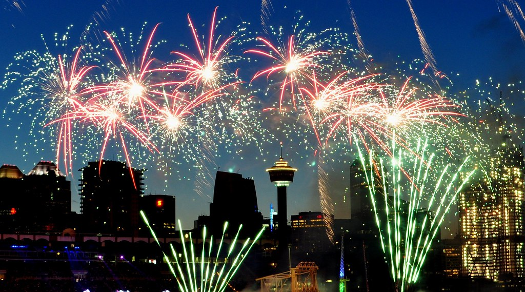 Calgary Stampede Fireworks Fireworks Blast Off Every