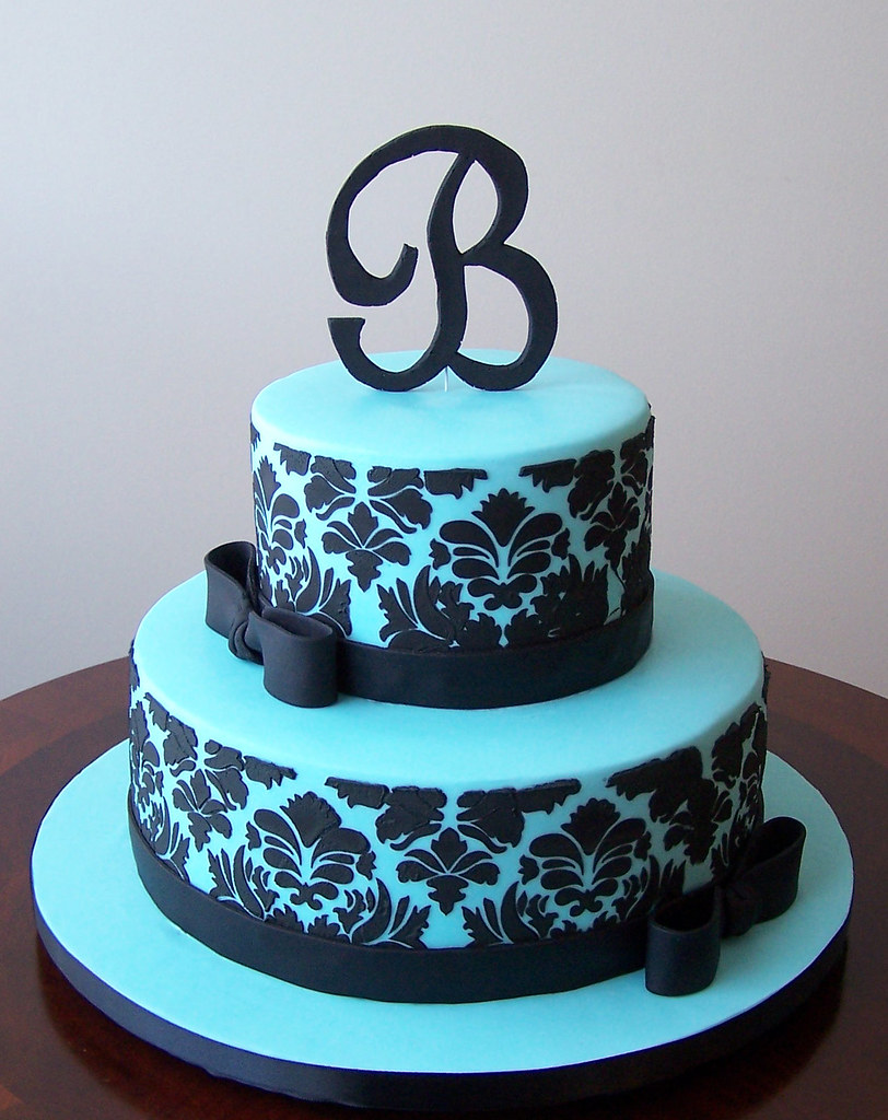 Black White Cakes Wedding