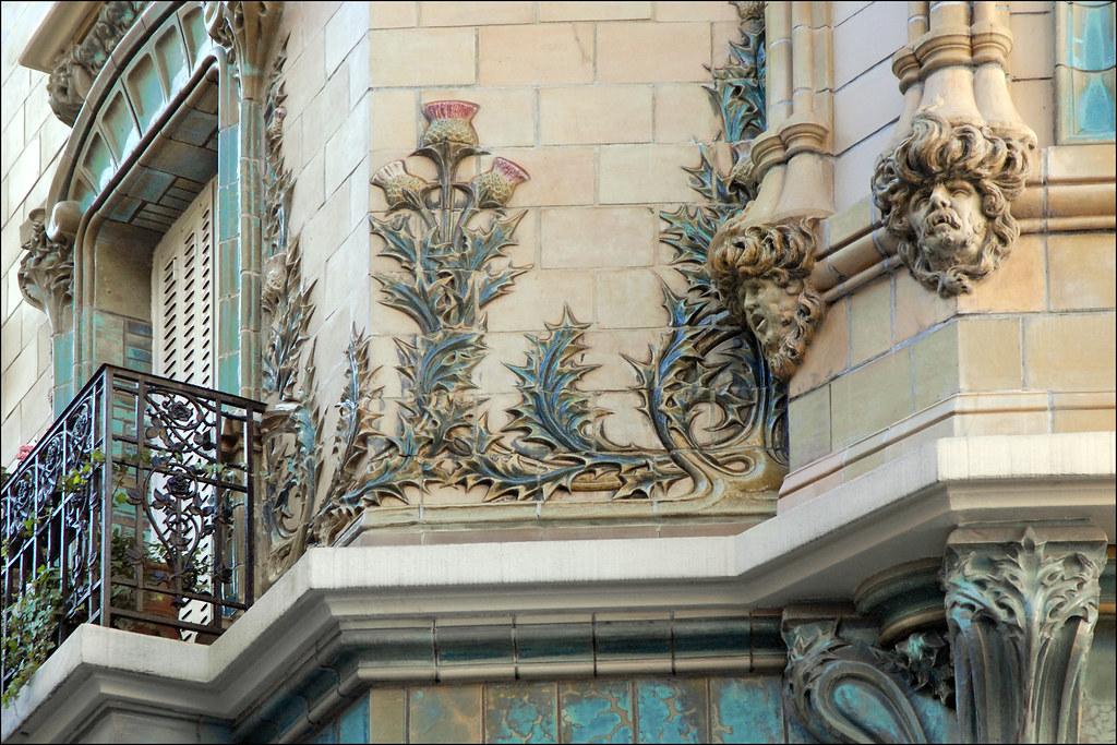 El 233 Ments De D 233 Cor D Un Immeuble Art Nouveau Paris Flickr