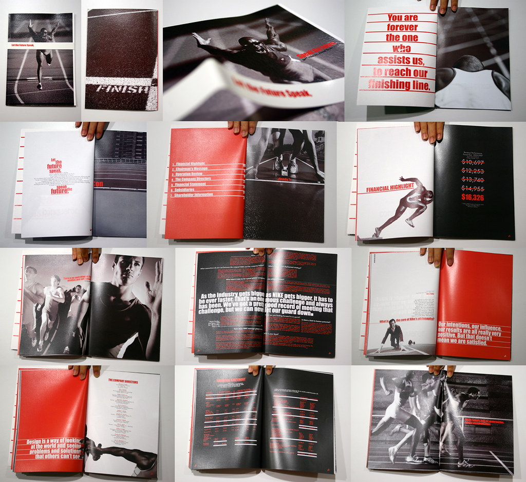 Nike annual report school subject annual report 2008 for Nike brochure design