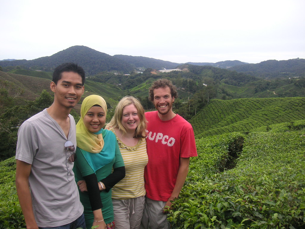 Us with some genuine Malaysians, both lovely of course!