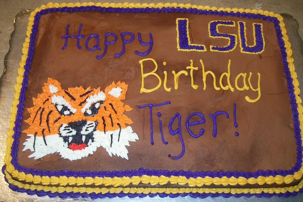 Lsu Birthday Cake Lsu Birthday Cake Patty Wilson Flickr