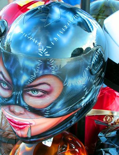 Pink Cat Motorbike Full Face Helmet Uk