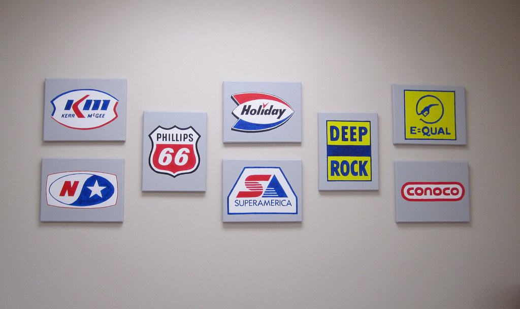 gas station logos by s d hill