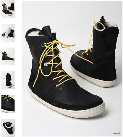Folk Shoes Andre 1 Boot In Black Nubuck With Yellow Laces Flickr