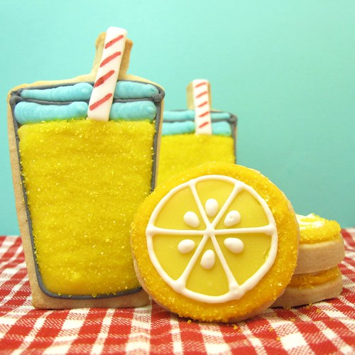 lemonade cookies | by thedecoratedcookie