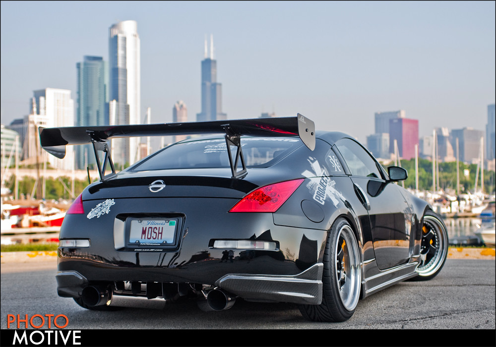 nissan 350z greddy twin turbo downtown chicago shooting. Black Bedroom Furniture Sets. Home Design Ideas