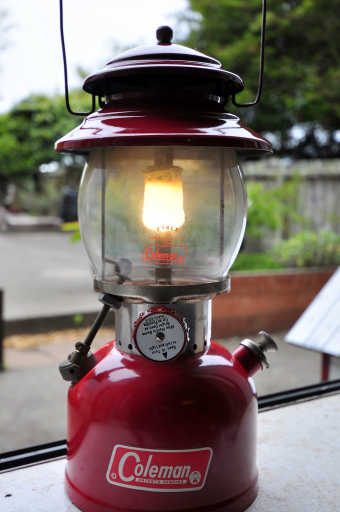 Lit Red Coleman 200A Lantern Dated December 1965 | Picked ...