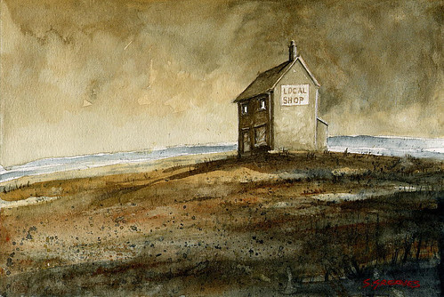 Local Shop - Watercolour Painting by Steve Greaves | by Steve Greaves