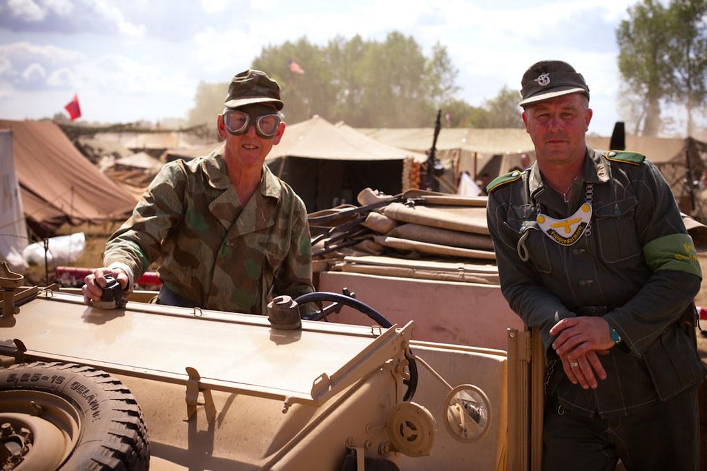 Two re enactors dressed as wwii german arm flickr