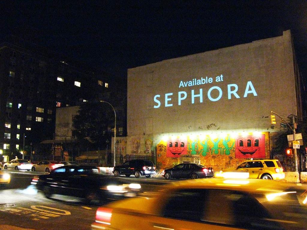 Guerilla Building Projection Advertising New York City O