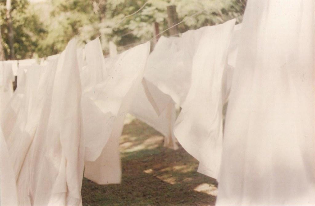 White sheets on a clothes line puerto iguazu argentina flickr - Wash white sheets keep fresh ...